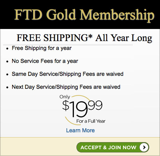 ftd gold free delivery